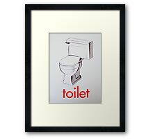 Vintage Toilet card Framed Print