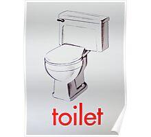 Vintage Toilet card Poster