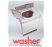Vintage Washer card Poster
