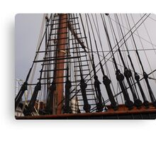 Rigging of Discovery Canvas Print