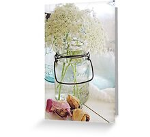 Shabby queen annes lace  Greeting Card