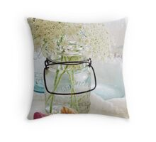 Shabby queen annes lace  Throw Pillow