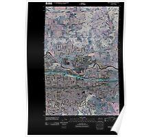 USGS Topo Map Washington State WA Greenacres 20110401 TM Inverted Poster