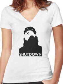 Shutdown / Skepta Women's Fitted V-Neck T-Shirt