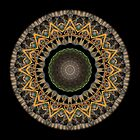 Mandala - Golden Weave by Christopher Marshall