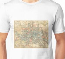 Vintage Map of Berlin Germany (1904) Unisex T-Shirt