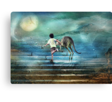 Seven Steps to the Moon Canvas Print