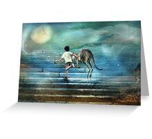 Seven Steps to the Moon Greeting Card