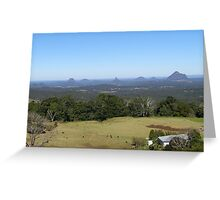 'Glasshouse Mountains' from Blackbutt. Queensland. Greeting Card