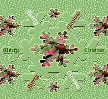Christmas Card - Caladiums and Snowflakes by MotherNature