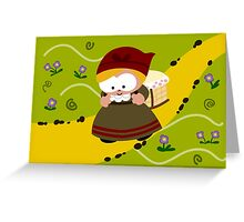 Baby Pannier Greeting Card