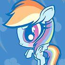 Weeny My Little Pony- Rainbow Dash by LillyKitten