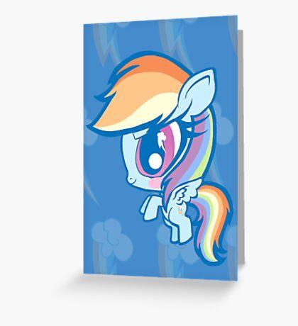 Weeny My Little Pony- Rainbow Dash Greeting Card