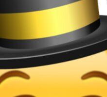 Smirking face emoji with a hat Sticker