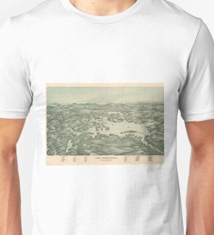 Vintage Pictorial Map of Lake Winnipesaukee (1903)  Unisex T-Shirt