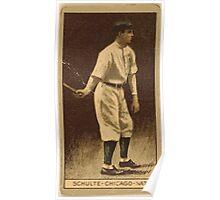Benjamin K Edwards Collection Frank Schulte Chicago Cubs baseball card portrait Poster