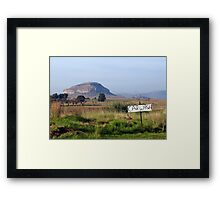 It pays to advertise! Framed Print