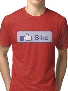 Like Bike Thumbs Up Tri-blend T-Shirt