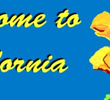 Welcome to California, Road Sign, USA  Sticker
