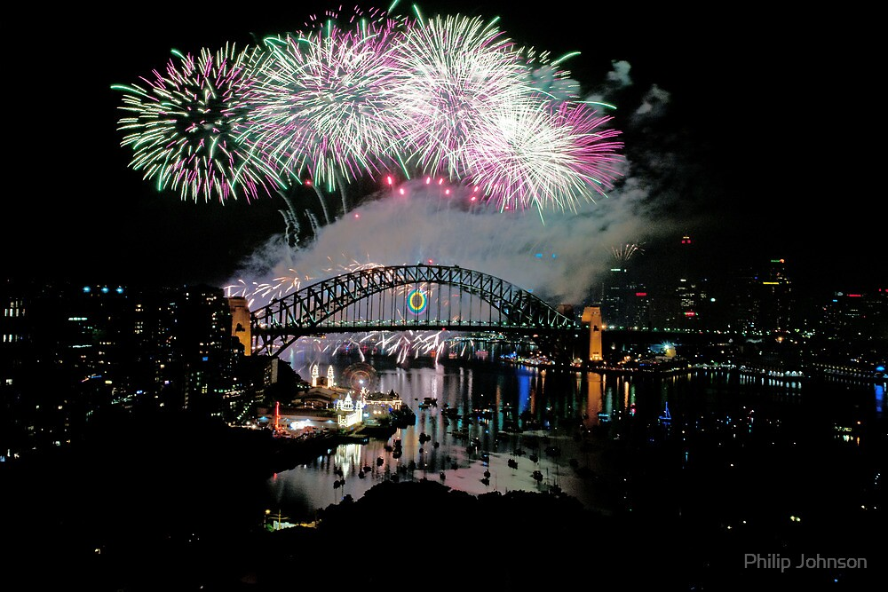 Simply The Best ! - Sydney NYE Fireworks  #7 by Philip Johnson