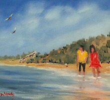 Seaside Sisters by rodmooreart