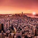 Manhattan in red by Nicklas Gustafsson