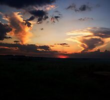 Sunset on Elandsfontein by Oupoot