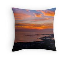 Townsville Sunrise - From Castle Hill Throw Pillow