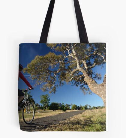 Riding into the view Tote Bag