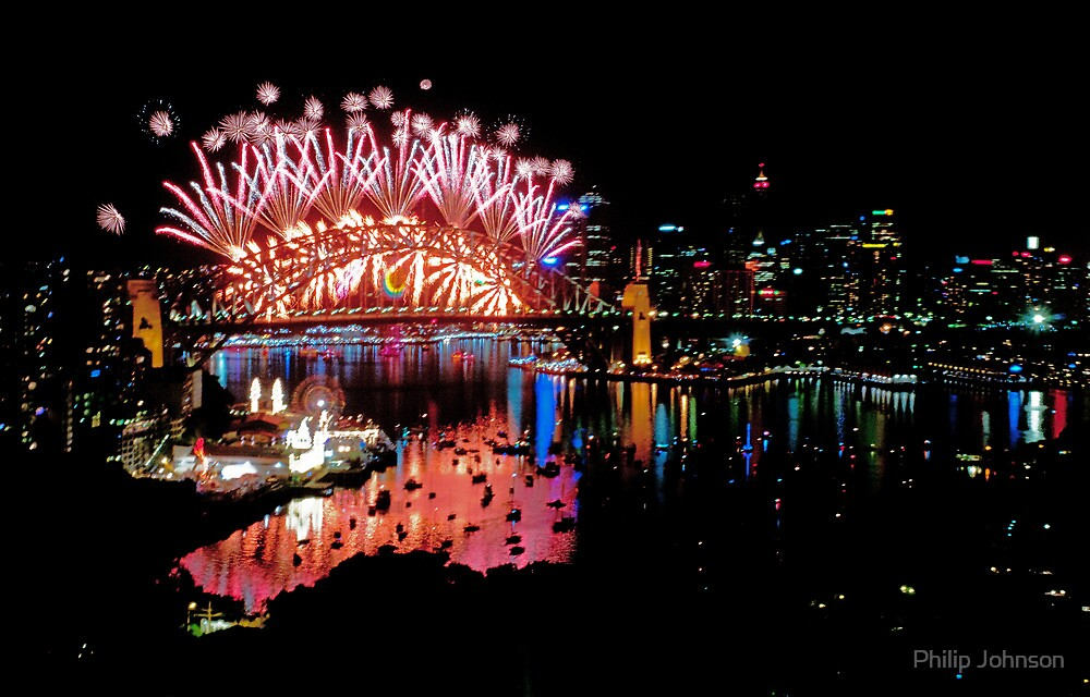 Simply The Best ! - Sydney NYE Fireworks  #6 by Philip Johnson
