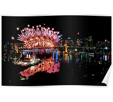 Simply The Best ! - Sydney NYE Fireworks  #6 Poster