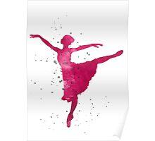 Ballerina nursery art print Poster