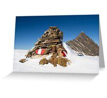 Alpine Cairn Greeting Card