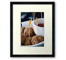 Kangaroo Meatballs Framed Print