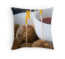 Kangaroo Meatballs Throw Pillow
