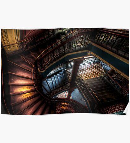 QVB Staircase Poster
