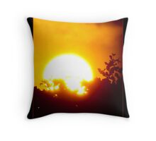 Sunset Postcard Throw Pillow