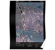 USGS Topo Map Washington State WA Yakima East 20110504 TM Inverted Poster