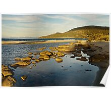 Captain Cook Creek in late setting sun - Bruny Island, Tasmania Poster