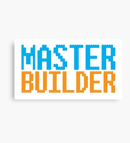 MASTER BUILDER with toy bricks Canvas Print
