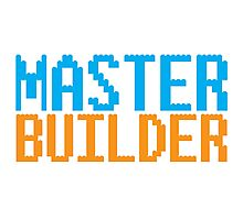 MASTER BUILDER with toy bricks Photographic Print