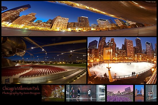 Millennium Park Photo Collage by Sven Brogren