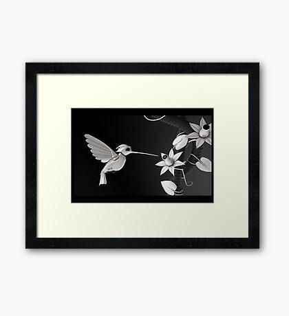BirdBot - Hi tech nature series (sci-fi) Framed Print