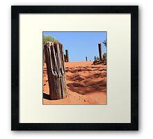 Mt Connor Sand Dune Framed Print