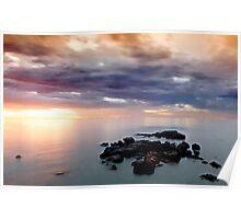 A hot Summer Sunset over Half Moon Bay  Poster