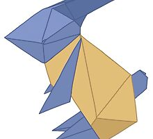 To the Moon - Origami Rabbit by aussiesimsalex