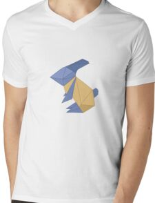 To the Moon - Origami Rabbit Mens V-Neck T-Shirt