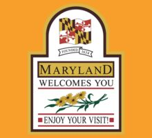 Welcome to Maryland, Road Sign, USA  by worldofsigns