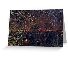 City Lights and Elementals On New Year´s Eve in Gothenburg Greeting Card