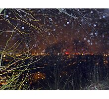 City Lights and Elementals On New Year´s Eve in Gothenburg Photographic Print